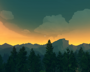 Sunset from the game Firewatch